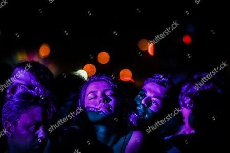 Festival-goers react during the concert of Scottish band Mogwai on the first day of 2019 Alive Festival in Oeiras, outskirts of Lisbon, Portugal, 11 July 2019. The festival runs from 11 to 13 July.