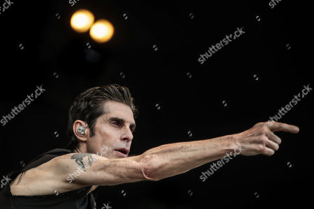 Perry Farrell performs during the 2019 Alive Festival in Oeiras, outskirts of Lisbon, Portugal, 12 July 2019. The 13th edition of the music festival runs from 11 to 13 July.