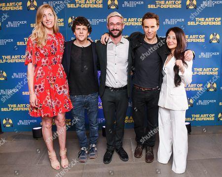 Cody Ryder, Jesse Eisenberg, Riley Stearns, Alessandro Nivola and Mindy Kelly