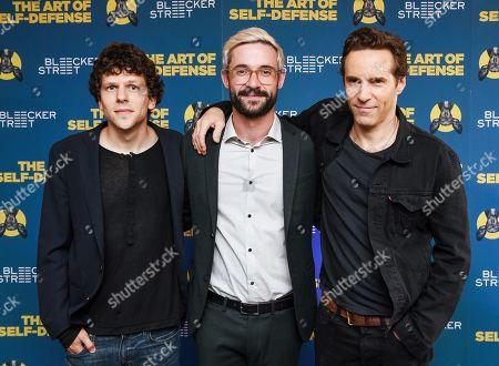 Jesse Eisenberg, Riley Stearns and Alessandro Nivola