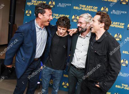 Andrew Karpen, Jesse Eisenberg, Riley Stearns and Alessandro Nivola