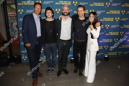 Andrew Karpen (Exec. Producer), Jesse Eisenberg, Riley Stearns (Director), Alessandro Nivola and Mindy Kelly