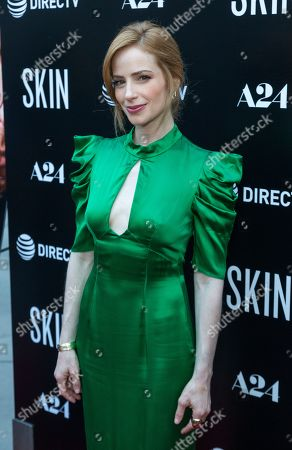 """Jaime Ray Newman attends the LA Special Screening of """"Skin"""" at the ArcLight Hollywood, in Los Angeles"""