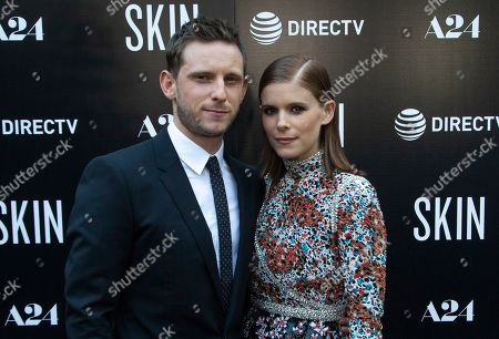 """Jamie Bell, Kate Mara. Jamie Bell, left, and Kate Mara attend the LA Special Screening of """"Skin"""" at the ArcLight Hollywood, in Los Angeles"""