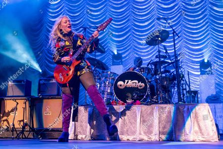 """Nancy Wilson of Heart performs during the """"Love Alive Tour"""" at the Hollywood Casino Amphitheatre, in Chicago"""