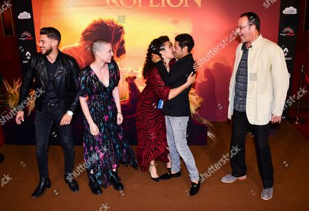 Stock Picture of Rayane Bensetti, Anne Sila, Sabrina Ouazani, Jamel Debbouze, Jean Reno and Alban Ivanov
