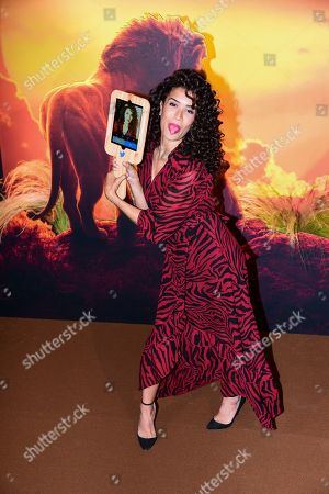 Editorial photo of 'The Lion King' film premiere, Arrivals, Paris, France - 11 Jul 2019