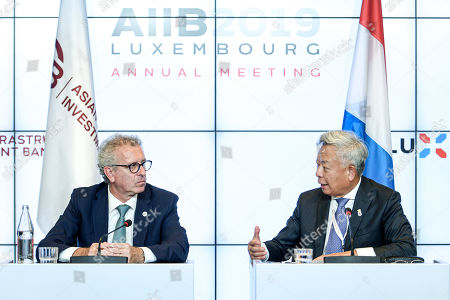 Editorial photo of AIIB Annual Meeting 2019 in Luxembourg - 12 Jul 2019
