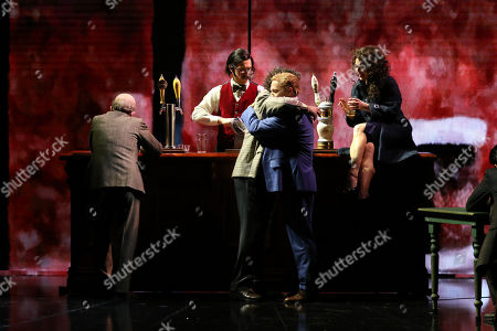 Stock Picture of Julie Lea Goodwin in the role of Wendy Whiteley and Leigh Melrose in the role of Brett Whiteley on stage at the Joan Sutherland Theatre, Sydney Opera House.