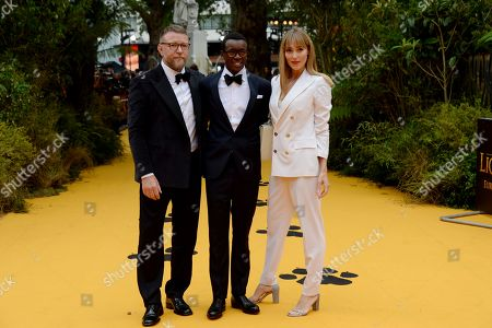 Stock Picture of Guy Ritchie, David Banda and Jacqui Ainsley