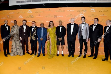 Keegan-Michael Key, Florence Kasumba, Seth Rogen, Sir Elton John, Lebo M, Beyonce Knowles, Pharrell Williams, Sir Tim Rice, Billy Eichner, Jon Favreau and Hans Zimmer