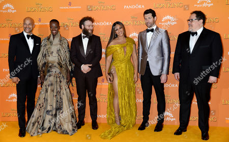 Stock Photo of Keegan Michael-Key, Florence Kasumba, Seth Rogen, Beyonce Knowles, Billy Eichner and Jon Favreau