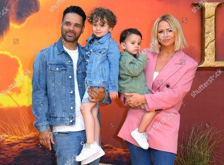 Justin Scott and Kimberley Walsh with family
