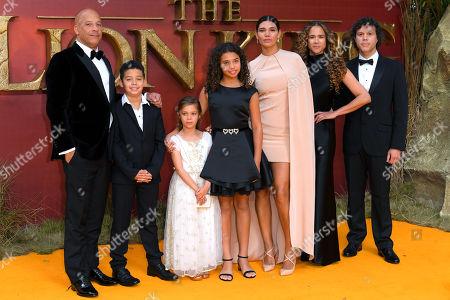 Vin Diesel, Paloma Jimenez and family
