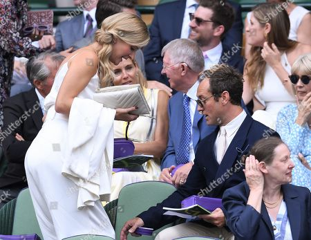 Jude Law and Phillipa Coan in the Royal Box on Centre Court