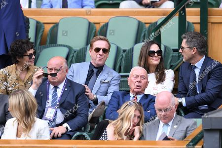 Damian Lewis and Helen McCrory, Eric Bana and Rebecca Gleeson in the Royal Box on Centre Court