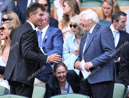 Pat Cash and Sir David Attenborough in the Royal Box on Centre Court