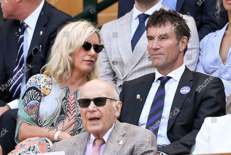 Pat Cash and Catherine Wilson in the Royal Box on Centre Court