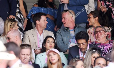 Declan Donnelly and Ali Astall, Chris Evans and Natasha Evans on Centre Court