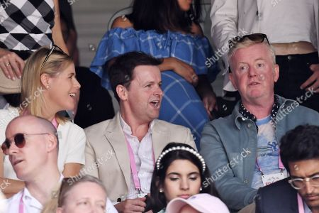 Declan Donnelly and Ali Astall and Chris Evans on Centre Court