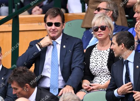 Nick Faldo and Lindsay De Marco in the Royal Box on Centre Court
