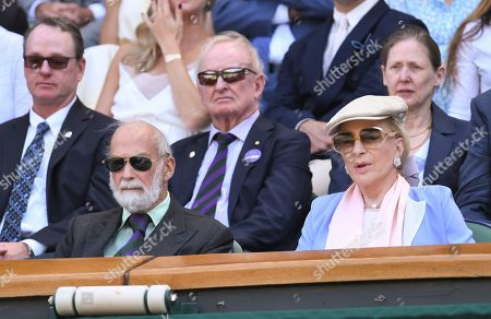 Prince Michael of Kent and Princess Michael of Kent in the Royal Box on Centre Court