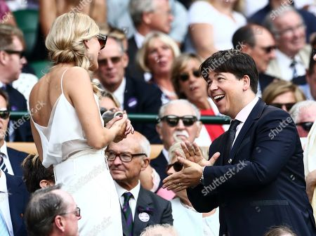 Stock Picture of Michael McIntyre and Phillipa Coan in the Royal Box on Centre Court