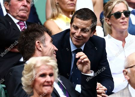 Bear Grylls and Pat Cash in the Royal Box on Centre Court