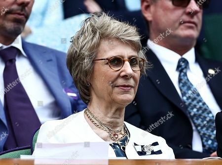 The Duchess of Gloucester in the Royal Box on Centre Court