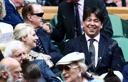 Michael McIntyre and Kitty McIntyre in the Royal Box on Centre Court