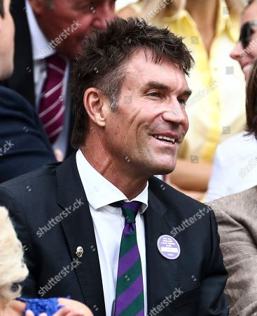 Pat Cash in the Royal Box on Centre Court