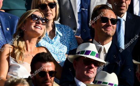 Stock Image of Jude Law and Phillipa Coan in the Royal Box on Centre Court