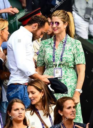James Middleton and Mirka Federer on Centre Court