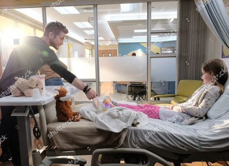 Matt Czuchry as Conrad Hawkins and Alexis De Moerloose as Jeannie Peterson