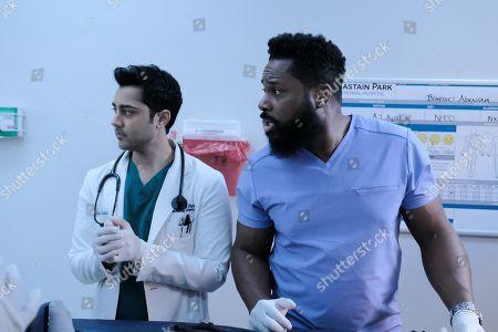 Manish Dayal as Devon Pravesh and Malcolm-Jamal Warner as AJ Austin