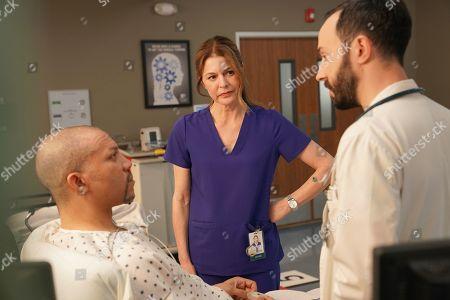 Christopher B. Duncan as Brett Slater, Jane Leeves as Dr. Kitt Voss and Tasso Feldman as Irving Feldman