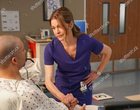 Christopher B. Duncan as Brett Slater and Jane Leeves as Dr. Kitt Voss
