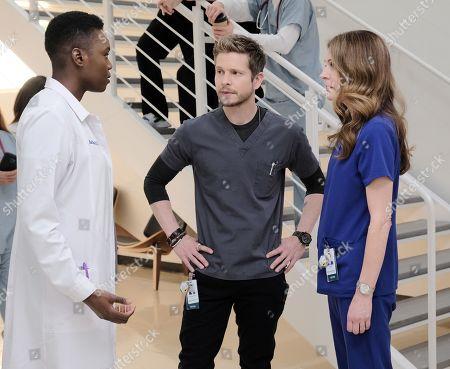 Shaunette Renee Wilson as Mina Okafor, Matt Czuchry as Conrad Hawkins and Jane Leeves as Dr. Kitt Voss