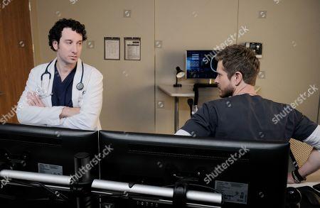 Michael Hogan as Dr. Albert Nolan and Matt Czuchry as Conrad Hawkins