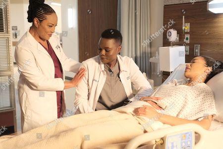 Stock Picture of Lynn Whitfield as Josephine Okeke, Shaunette Renee Wilson as Mina Okafor and Erinn Westbrook as Adaku Eze