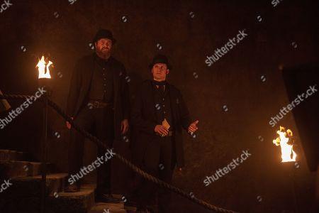 Stock Photo of Kieran Bew as 'Big Bill' O'Hara and Tom Weston-Jones as Richard Lee