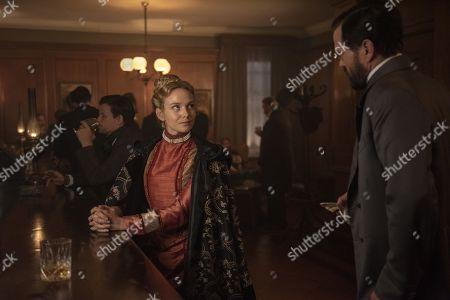 Joanna Vanderham as Penelope Blake and Langley Kirkwood as Walter Buckley