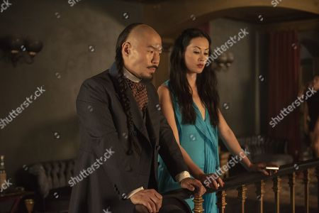 Stock Picture of Hoon Lee as Wang Chao and Olivia Cheng as Ah Toy
