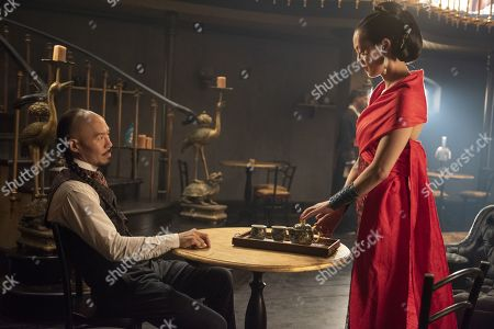 Stock Photo of Hoon Lee as Wang Chao and Olivia Cheng as Ah Toy
