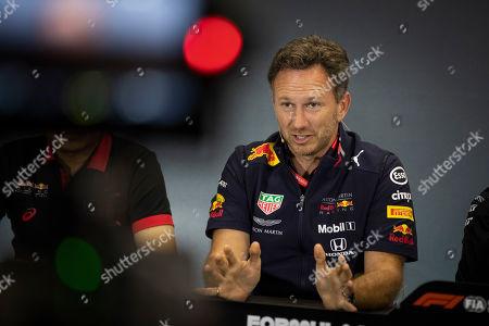 Motorsports: FIA Formula One World Championship 2019, Grand Prix of Great Britain,  Christian Horner (GBR, Aston Martin Red Bull Racing),