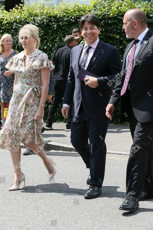Kitty McIntyre and Michael McIntyre is pictured arriving at the AELTC for day 11 of the Wimbledon championships.