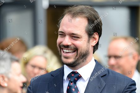 Prince Felix of Luxembourg attends the inauguration of the new water plant in Morbylanga, Oland, Sweden
