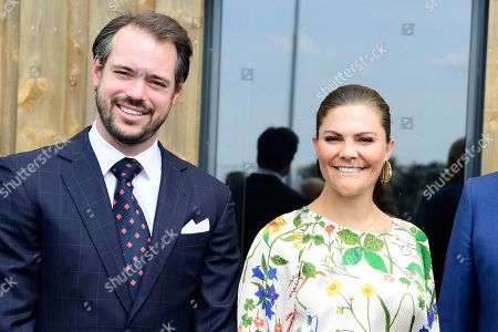 Prince Felix of Luxembourg and Crown Princess Victoria attend the inauguration of the new water plant in Morbylanga, Oland, Sweden