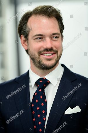 Stock Image of Prince Felix of Luxembourg attends the inauguration of the new water plant in Morbylanga, Oland, Sweden
