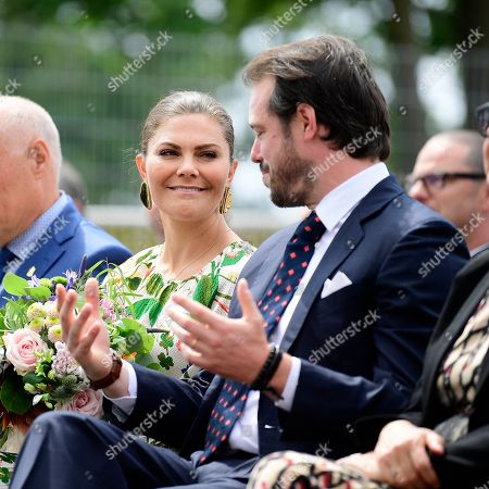 Crown Princess Victoria and Prince Felix of Luxembourg attend the inauguration of the new water plant in Morbylanga, Oland, Sweden